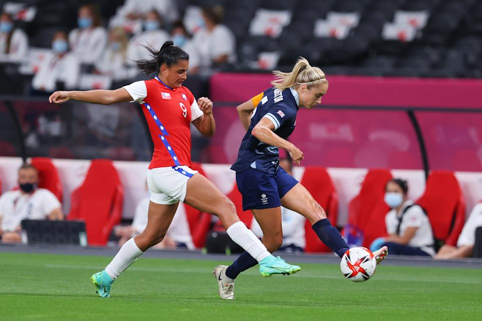 England skipper Houghton is one of three co-captains for Team GB alongside Scotland's Kim Little and Sophie Ingle from Wales