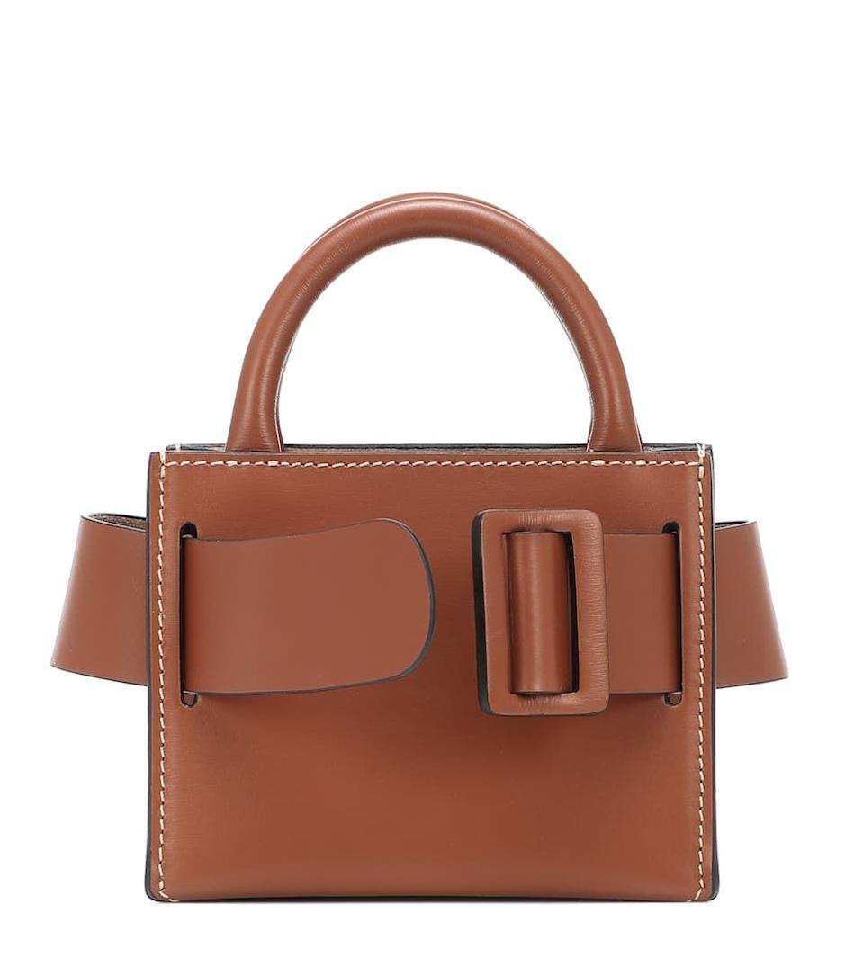 """<p><strong>Boyy</strong></p><p>mytheresa.com</p><p><strong>$346.00</strong></p><p><a href=""""https://click.linksynergy.com/deeplink?id=6Km1lFswsiY&mid=43172&murl=https%3A%2F%2Fwww.mytheresa.com%2Fen-us%2Fboyy-bobby-surreal-leather-tote-1492865.html"""" rel=""""nofollow noopener"""" target=""""_blank"""" data-ylk=""""slk:Shop Now"""" class=""""link rapid-noclick-resp"""">Shop Now</a></p><p>This can be the perfect companion to your favorite gold chain, to be worn around your neck. With neutrals being our favorite color scheme for the New Year, this will surely come in handy. </p>"""