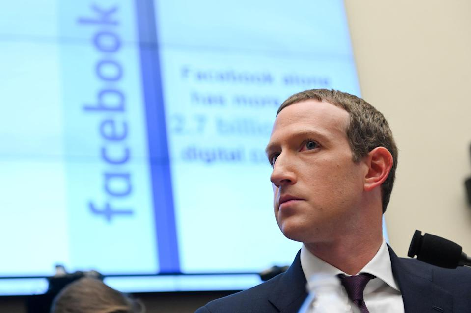 Facebook Chairman and CEO Mark Zuckerberg testifies at a House Financial Services Committee hearing in Washington, U.S., October 23, 2019. REUTERS/Erin Scott TPX IMAGES OF THE DAY