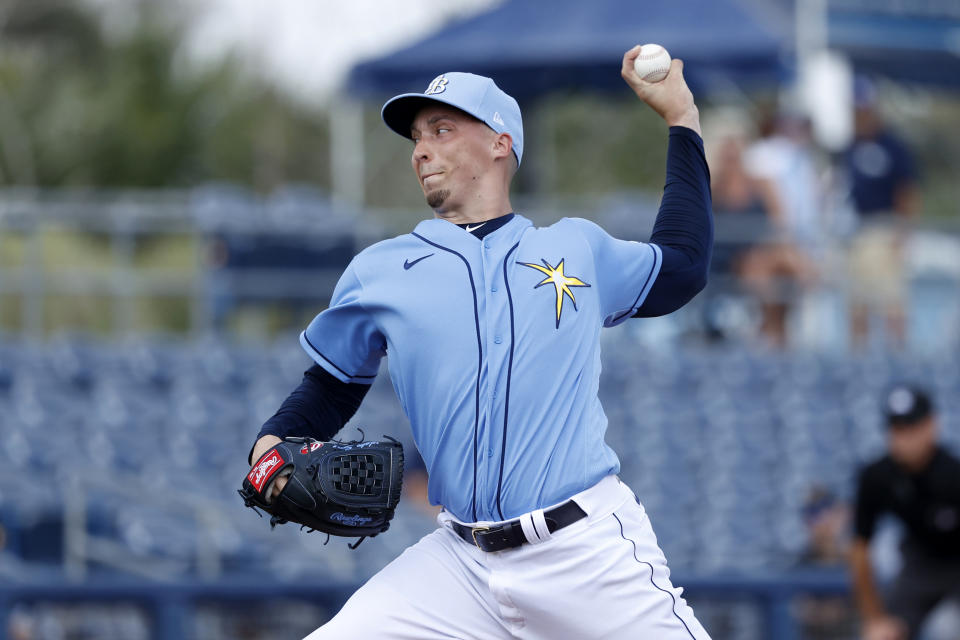 Blake Snell, back when he was still pitching. (Joe Robbins/Getty Images)