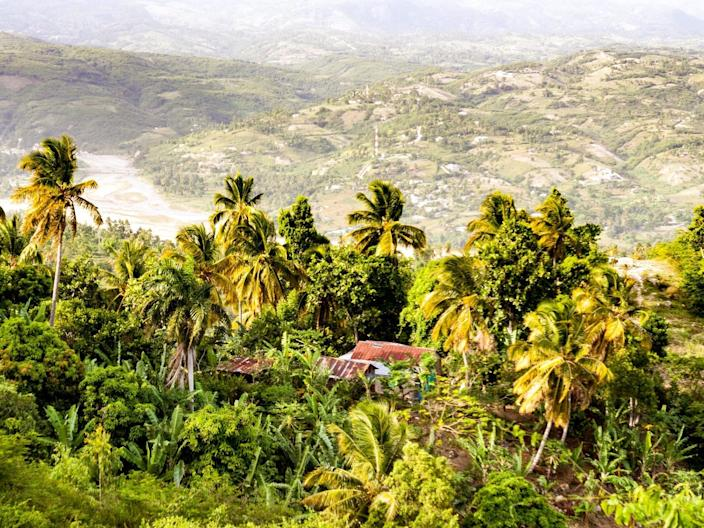 View of the Riviere de la Cosse in Haiti.