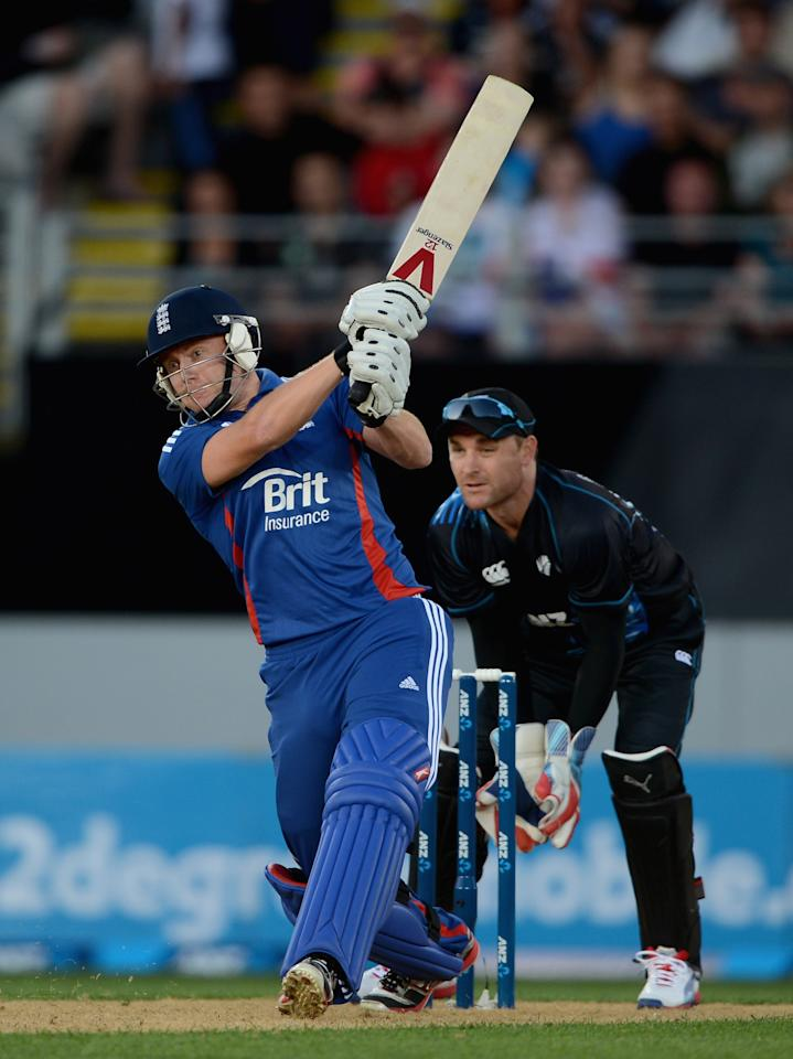 AUCKLAND, NEW ZEALAND - FEBRUARY 09:  Jonathan Bairstow of England bats during the 1st T20 International between New Zealand and England at Eden Park on February 9, 2013 in Auckland, New Zealand.  (Photo by Gareth Copley/Getty Images)