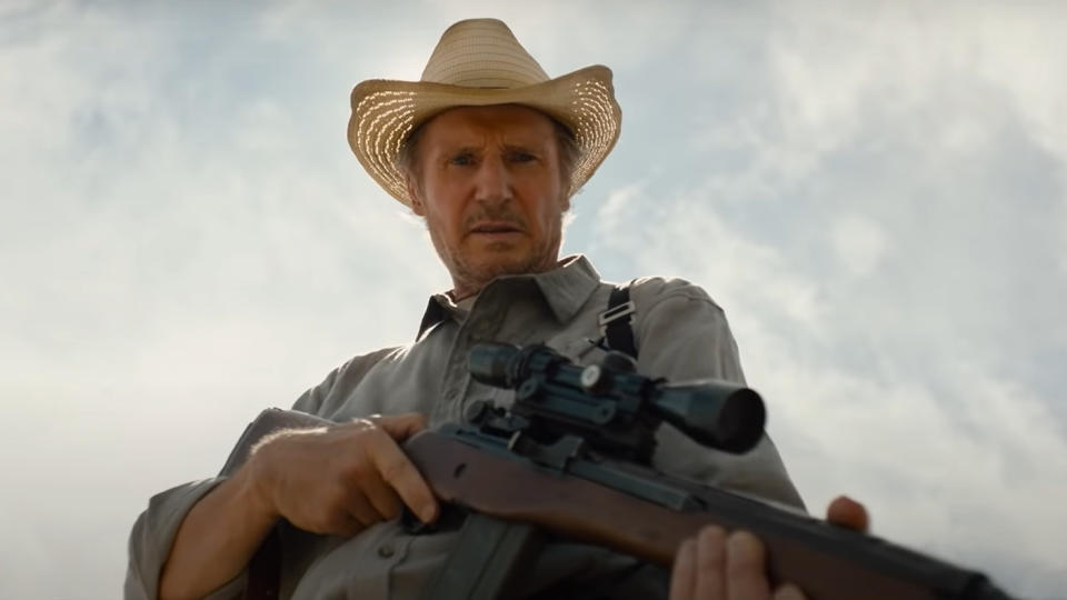 Liam Neeson in the trailer for new thriller 'The Marksman'. (Credit: Briarcliff Entertainment)
