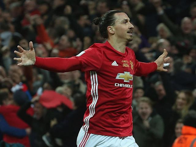 Ibrahimovic has scored 27 goals for United this season (Getty)