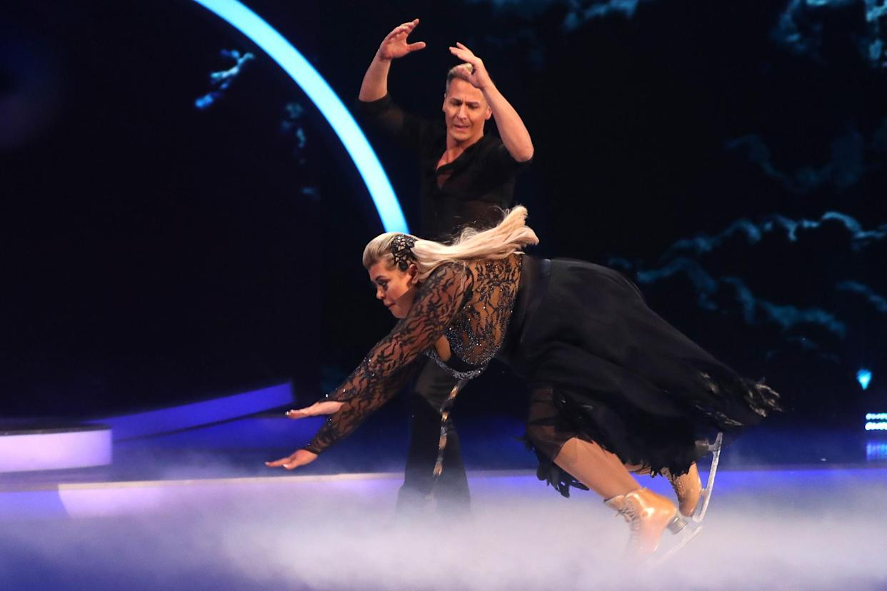 Gemma Collins in tears as she's praised by Dancing on Ice judges despite HUGE fall