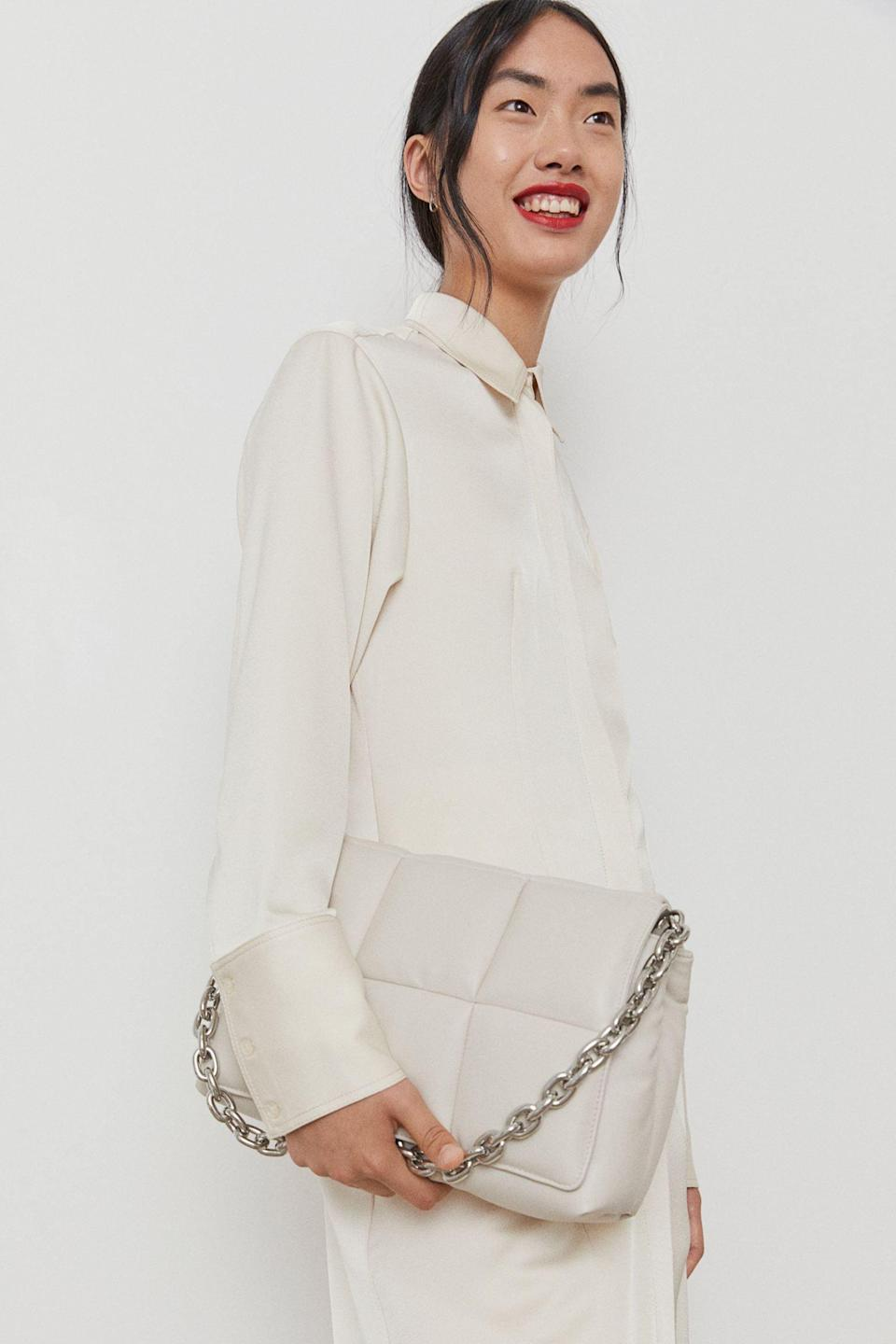 <p>What we love most about this <span>Quilted Shoulder Bag</span> ($40) is that it will stylishly transition from the office to afterwork happy hour. It's a stunning, versatile piece.</p>