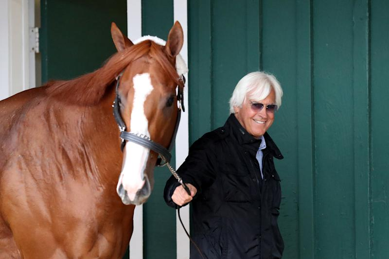 Hall of Fame trainer Bob Baffert was reportedly aware of Justify's positive drug test before the horse ran the 2018 Kentucky Derby. (Getty)