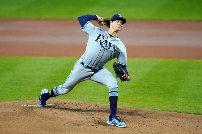 LEADING OFF: Glasnow, Rays try to win AL East, Bieber ready