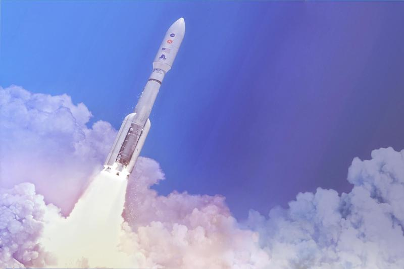 In this artist's concept, a two-stage United Launch Alliance (ULA) Atlas V launch vehicle speeds the Mars 2020 spacecraft toward the Red Planet: NASA/JPL-Caltech