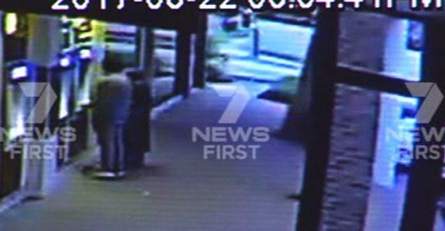 The couple were at the ATM when the car came crashing in. Source: 7 News