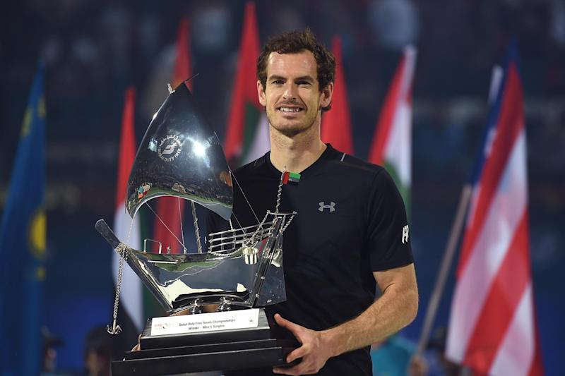 Murray lifts the trophy on Saturday: Getty Images