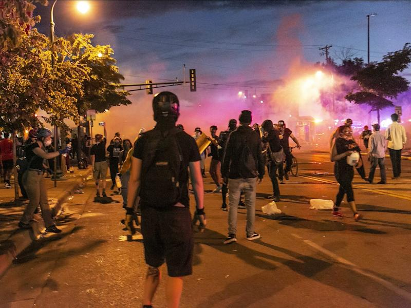 minneapolis george floyd protests fire