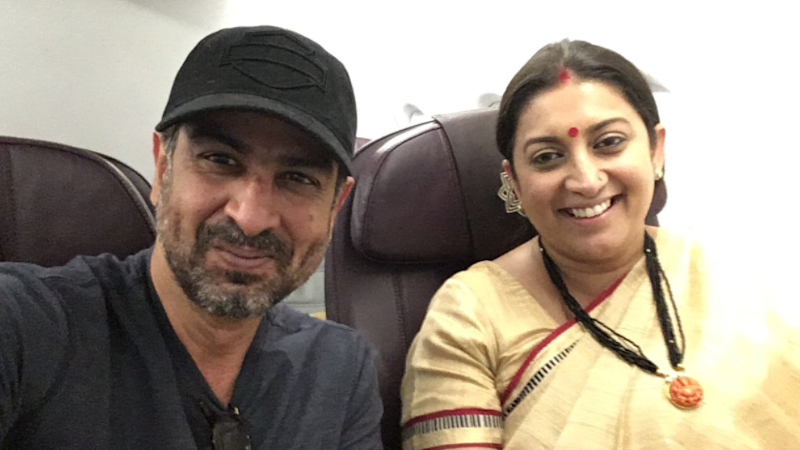 Ronit Roy and Smriti Irani's Mid-Air 'Kyunki Saas Bhi' Reunion