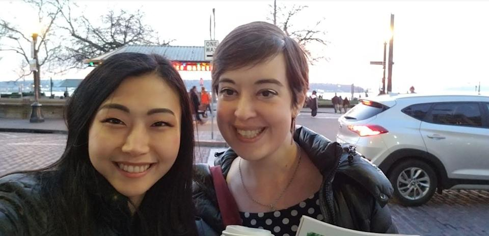 The author (right) during a trip to Seattle to visit her best friend, Haeyoon, two years after her recovery. (Photo: Courtesy of Meghan Beaudry)