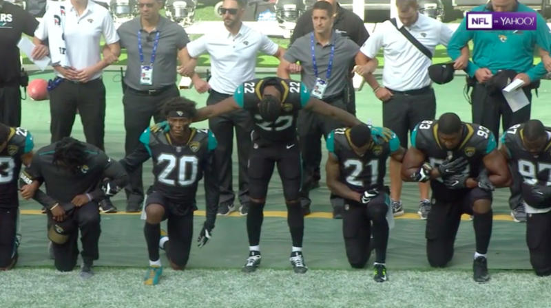 NFL Players Protest Trump And Racism In Games Across The Country
