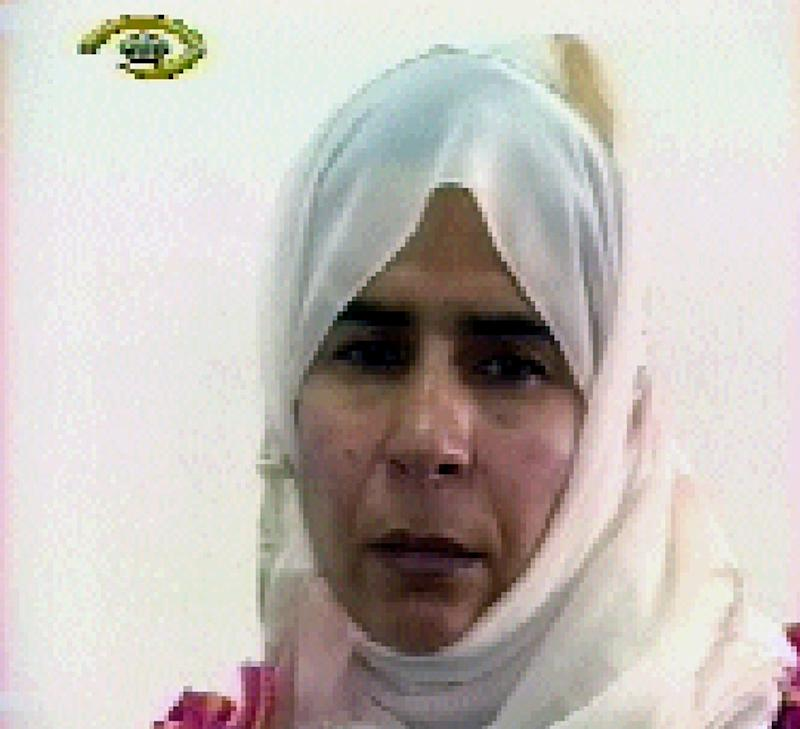 Image grab from Jordanian TV shows Iraqi Sajida Mubarak al-Rishawi, 35, who accompanied her husband on a suicide mission to the Radisson Hotel and failed to detonate her explosive belt, on November 13, 2005