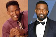 """<p>Another A-Lister to parlay his career on <em>In Living Color </em>into a successful career, Foxx won an Academy Award and Golden Globe in 2005 for his performance as Ray Charles in <em>Ray</em>, and has been nominated for nine Grammys in his career, taking home two. </p> <p>Today, he hosts <em>Beat Shazam</em>, and most recently starred in the Netflix series, <em><a href=""""https://www.youtube.com/watch?v=h82fLNNrcQI"""" rel=""""nofollow noopener"""" target=""""_blank"""" data-ylk=""""slk:Dad Stop Embarrassing Me!"""" class=""""link rapid-noclick-resp"""">Dad Stop Embarrassing Me!</a>, </em>which is based off of some of the real-life scenarios that his daughter, Corinne Foxx, wrote in her diary. His <em>In Living Color </em>costar, David Alan Grier, plays his father on the show! </p>"""