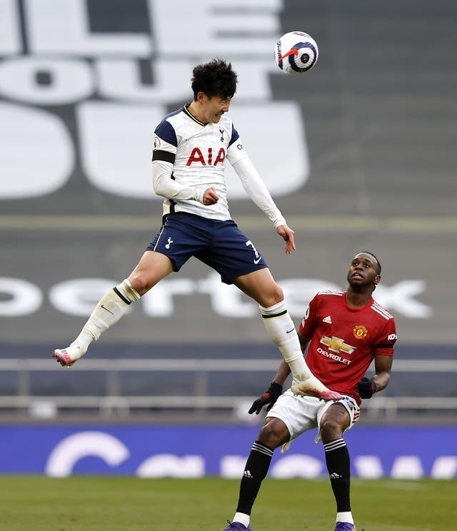 Son was targeted following Spurs' match against Manchester United on Sunday