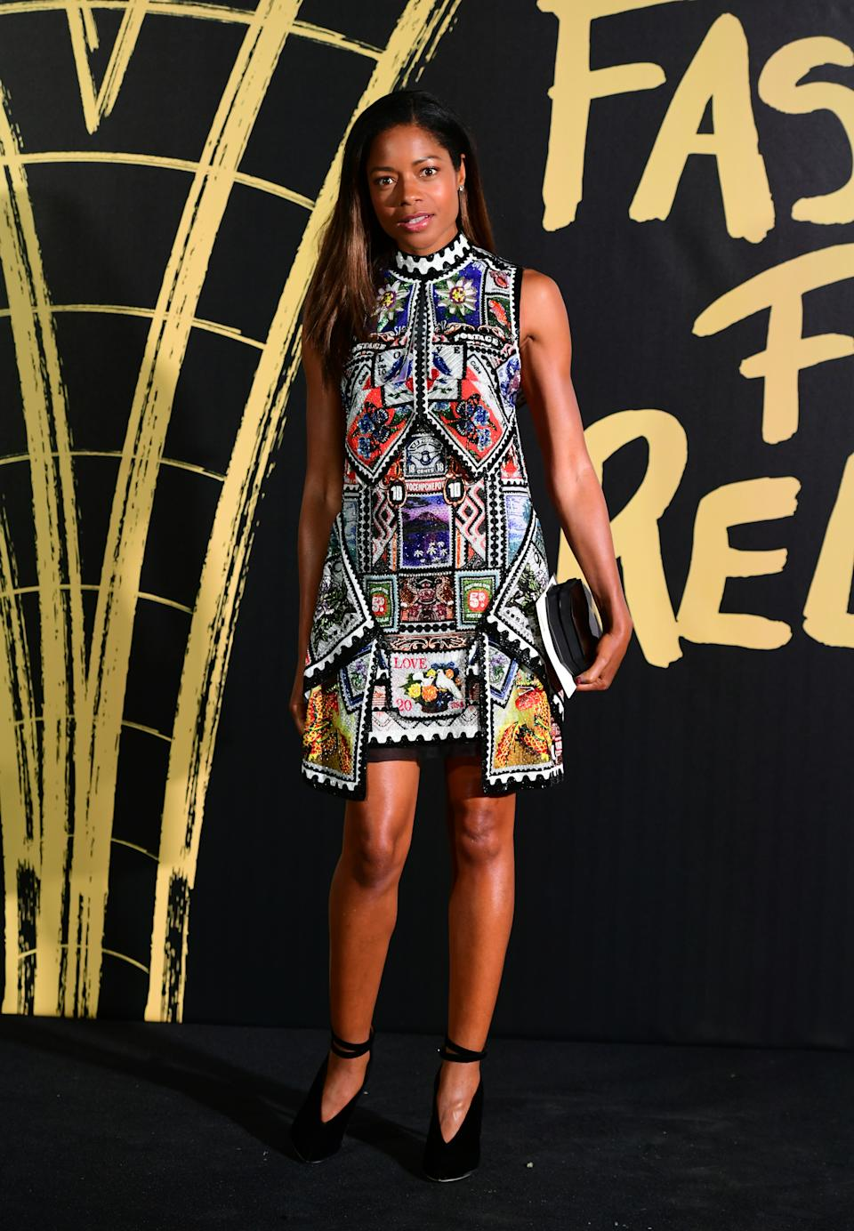 Naomie Harris arriving on the red carpet for Naomi Campbell's Fashion For Relief Gala during London Fashion Week [Photo: PA]