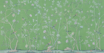 "<p><strong>de Gournay</strong></p><p><a href=""https://degournay.com/product-details/standard-on-emerald-green-india-tea-paper"" rel=""nofollow noopener"" target=""_blank"" data-ylk=""slk:Shop Now"" class=""link rapid-noclick-resp"">Shop Now</a></p>"