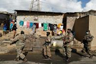 Some 25,000 soldiers have now been called up to help deal with the unrest