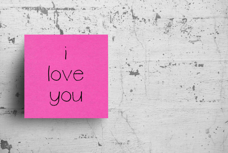 Sticky notes are a quick and thoughtful way to brighten up someone's day