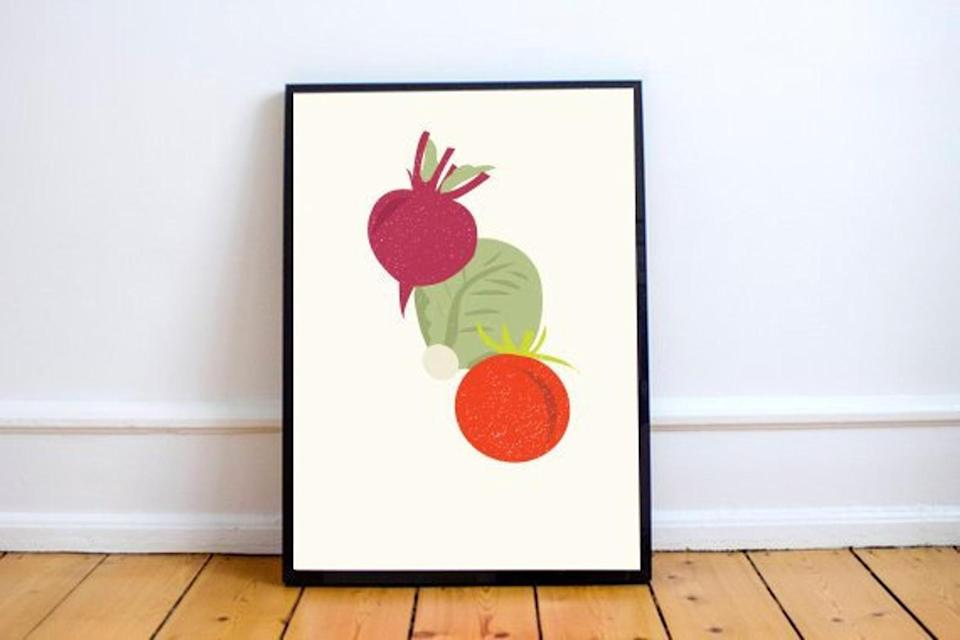 "<h2>Kitchen Illustration Fine-Art Print</h2><br>Add a pop of color to any kitchen space with these adorably bright kitchen illustrations. Can't you picture it hanging beside the dining table? <br><br><em>Shop <strong><a href=""https://www.etsy.com/shop/GodlyGorgeous"" rel=""nofollow noopener"" target=""_blank"" data-ylk=""slk:Godly Gorgeous"" class=""link rapid-noclick-resp"">Godly Gorgeous</a></strong></em><br><br><strong>GodlyGorgeous</strong> Kitchen Illustration Fine Art Print, $, available at <a href=""https://go.skimresources.com/?id=30283X879131&url=https%3A%2F%2Ffave.co%2F33cW9qX"" rel=""nofollow noopener"" target=""_blank"" data-ylk=""slk:Etsy"" class=""link rapid-noclick-resp"">Etsy</a>"
