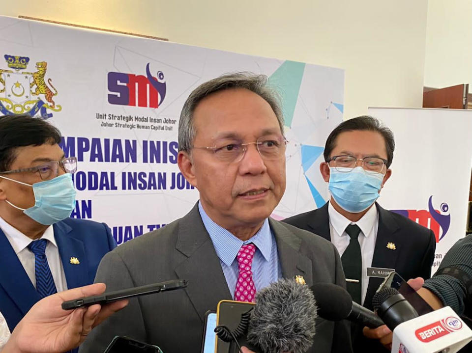 Johor Mentri Besar Datuk Hasni Mohammad said the Johor Economic, Tourism and Cultural Office (Jetco) office is the first of its kind as no other state has managed to establish such an operation in an effort to promote tourism, trade and cultural sectors. — Picture by Ben Tan