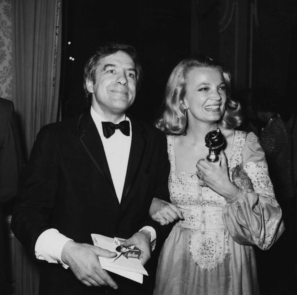 <p>Gena embodied pure '70s glamour with her embroidered lewk during the 1975 award ceremony, where she took home the globe for her work in <em>A Woman Under The Influence. </em></p>