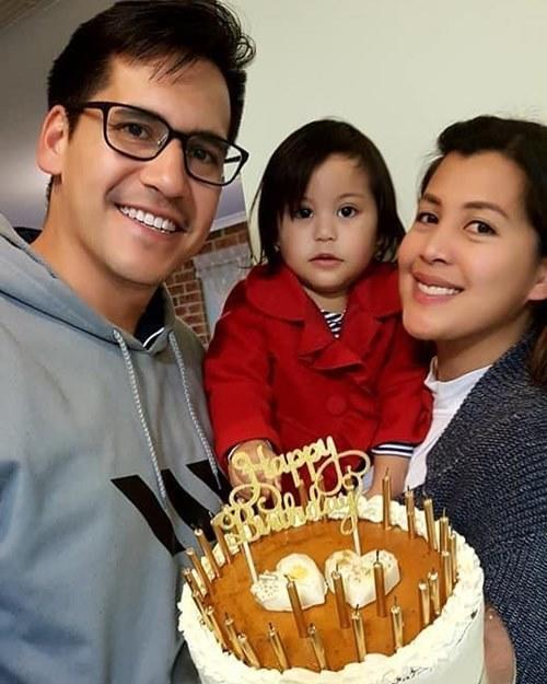 The couple and their first child are now based in Australia