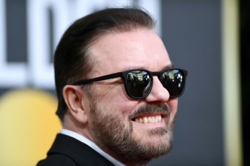 British comedian Ricky Gervais fired off some saucy one-liners at the Golden Globes but his final outing as the gala's host earned lackluster reviews