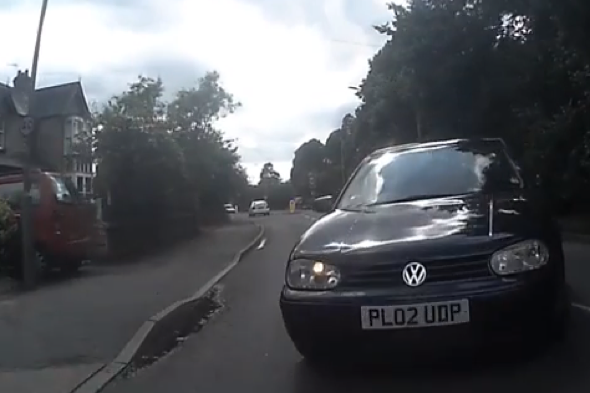 Cyclist in head-on collision with car in Slough
