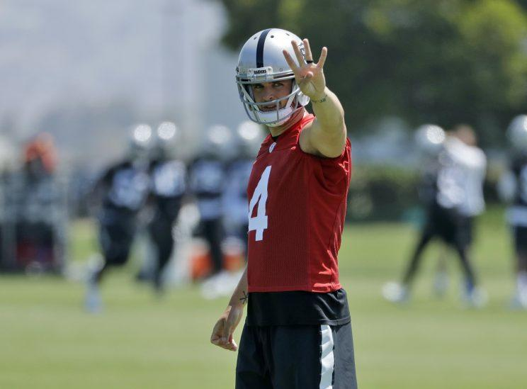 Derek Carr has thrown 81 touchdowns vs. 31 interceptions in his three seasons. (AP)