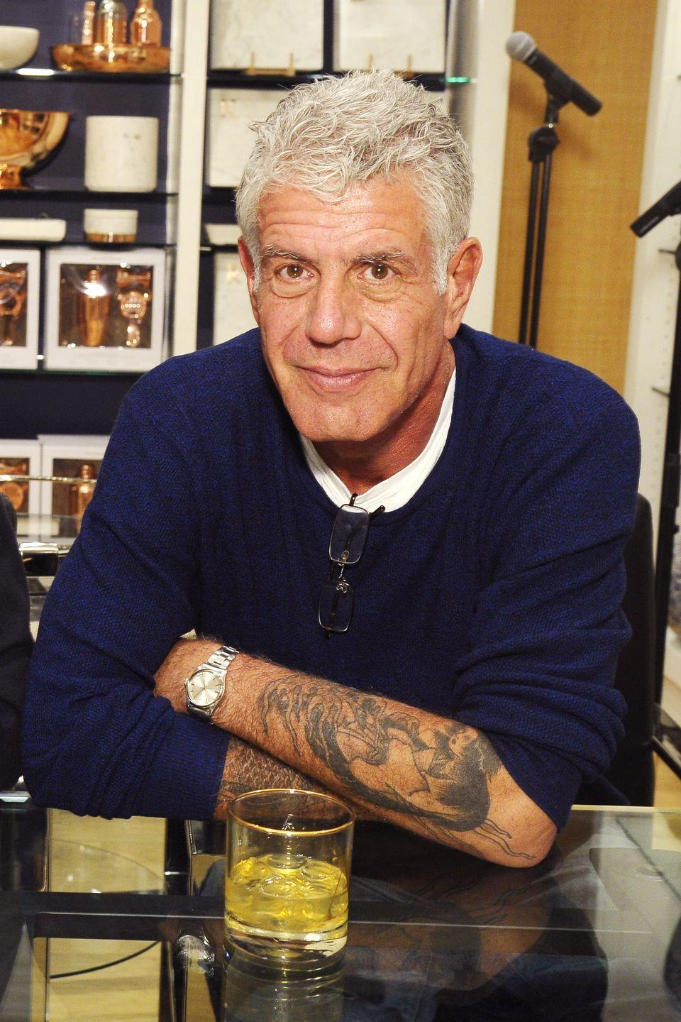 <p>Bourdain attends a book signing event for his book <em>Appetites: A Cookbook</em> on December 2, 2016 in New York.</p>
