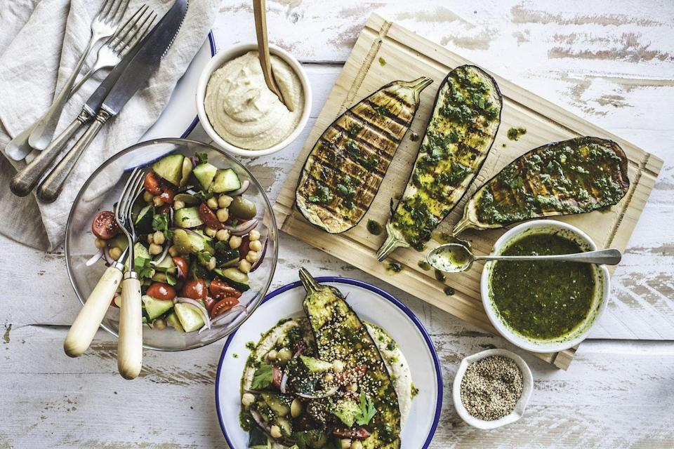 """<p>Don't just roast or sauté some vegetables, add some salt and pepper, and call it a day. Try new recipes, mix things up, and get creative in the kitchen. Vegetables can easily be the star of any meal instead of just a side dish people forget about. There are plenty of <a href=""""https://www.countryliving.com/food-drinks/g32934702/plant-based-recipes/"""" rel=""""nofollow noopener"""" target=""""_blank"""" data-ylk=""""slk:vegetarian and vegan recipes"""" class=""""link rapid-noclick-resp"""">vegetarian and vegan recipes</a> out there that are <a href=""""https://www.countryliving.com/food-drinks/g1186/vegetarian-recipes-0309/"""" rel=""""nofollow noopener"""" target=""""_blank"""" data-ylk=""""slk:unique and interesting"""" class=""""link rapid-noclick-resp"""">unique and interesting</a>, and they're easy to find with a little online search.</p>"""