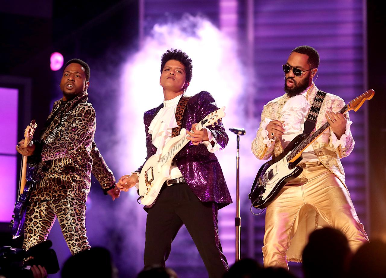 <p>Does the Recording Academy have enough members who are rap fans for a rap album to win when there are two strong, evenly matched rap nominees? I don't think so. That's a lucky break for Bruno Mars's <i>24K Magic</i> (or, as a longshot, Lorde's <i>Melodrama</i>). (Photo: Christopher Polk/Getty Images for NARAS) </p>
