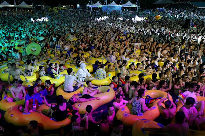 Image: People enjoy a music party inside a swimming pool at the Wuhan Maya Beach Park, in Wuhan, following the coronavirus disease (COVID-19) outbreak, Hubei province, China (Reuters file)