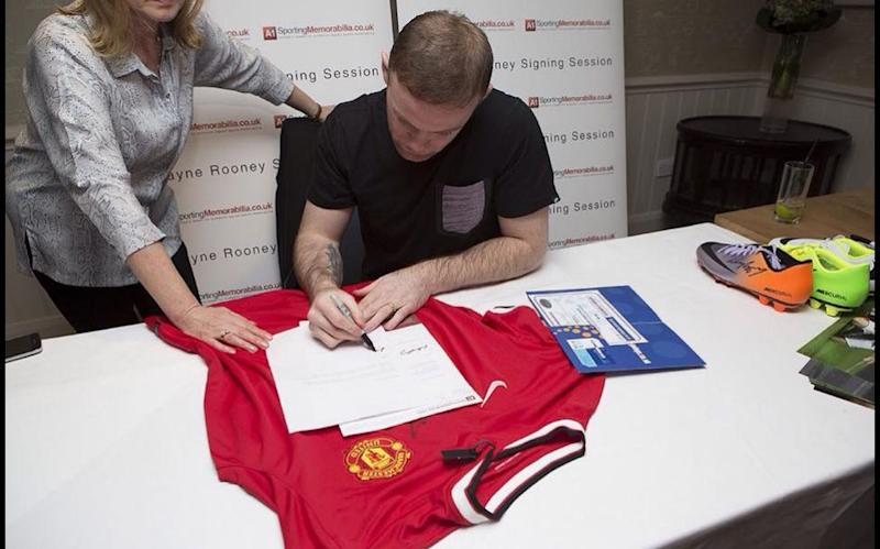 Wayne Rooney helped Trading Standards Officers catch a fraudster selling fake football merchandise  - BNPS