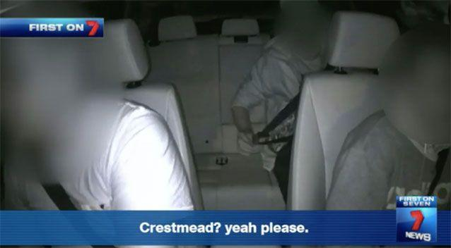 Footage from the ride to a drug deal in Brisbane. Source: 7News