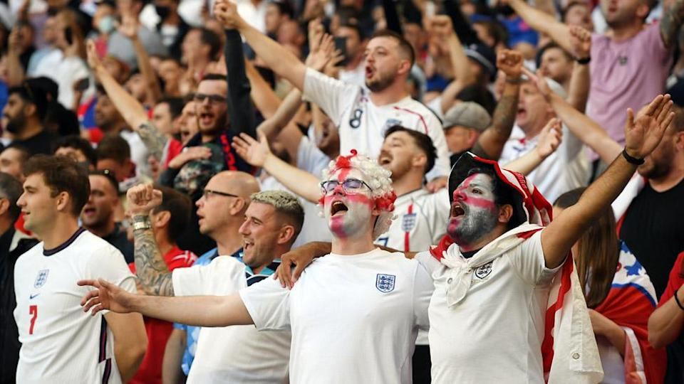 England fans in full voice at Wembley Stadium