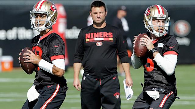 Kyle Shanahan must really like Rich Scangarello, because he wouldn't let the quarterbacks coach interview for a better job.