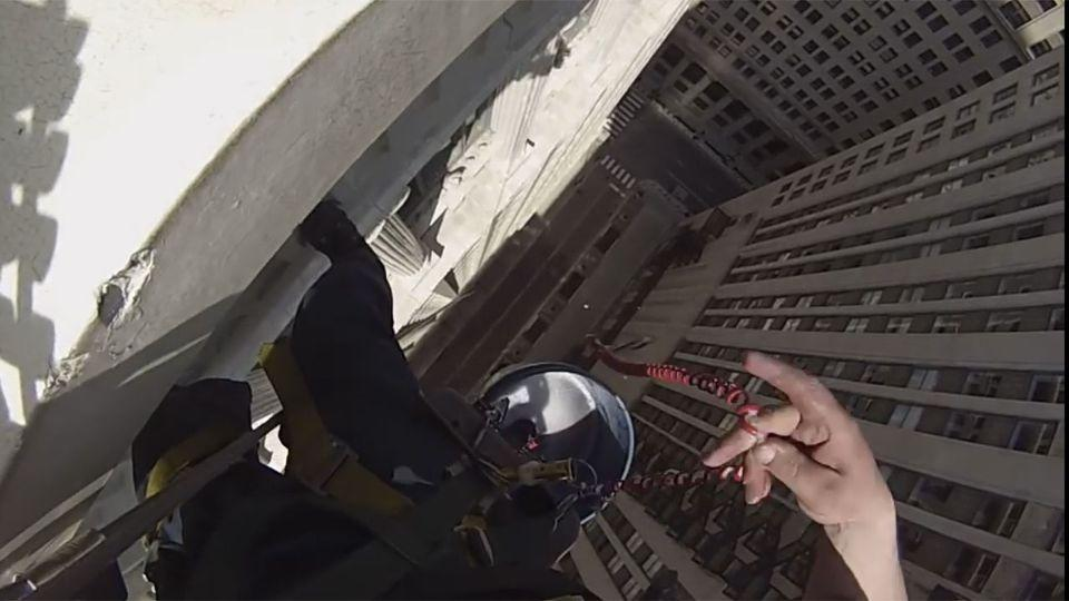 If you were ever wondering what it would be like to wash high-rise windows, this video is for you. Photo: Michael Kelly