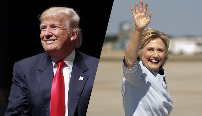 Donald Trump and Hillary Clinton. (Photos: Evan Vucci/AP, Andrew Harnik/AP)