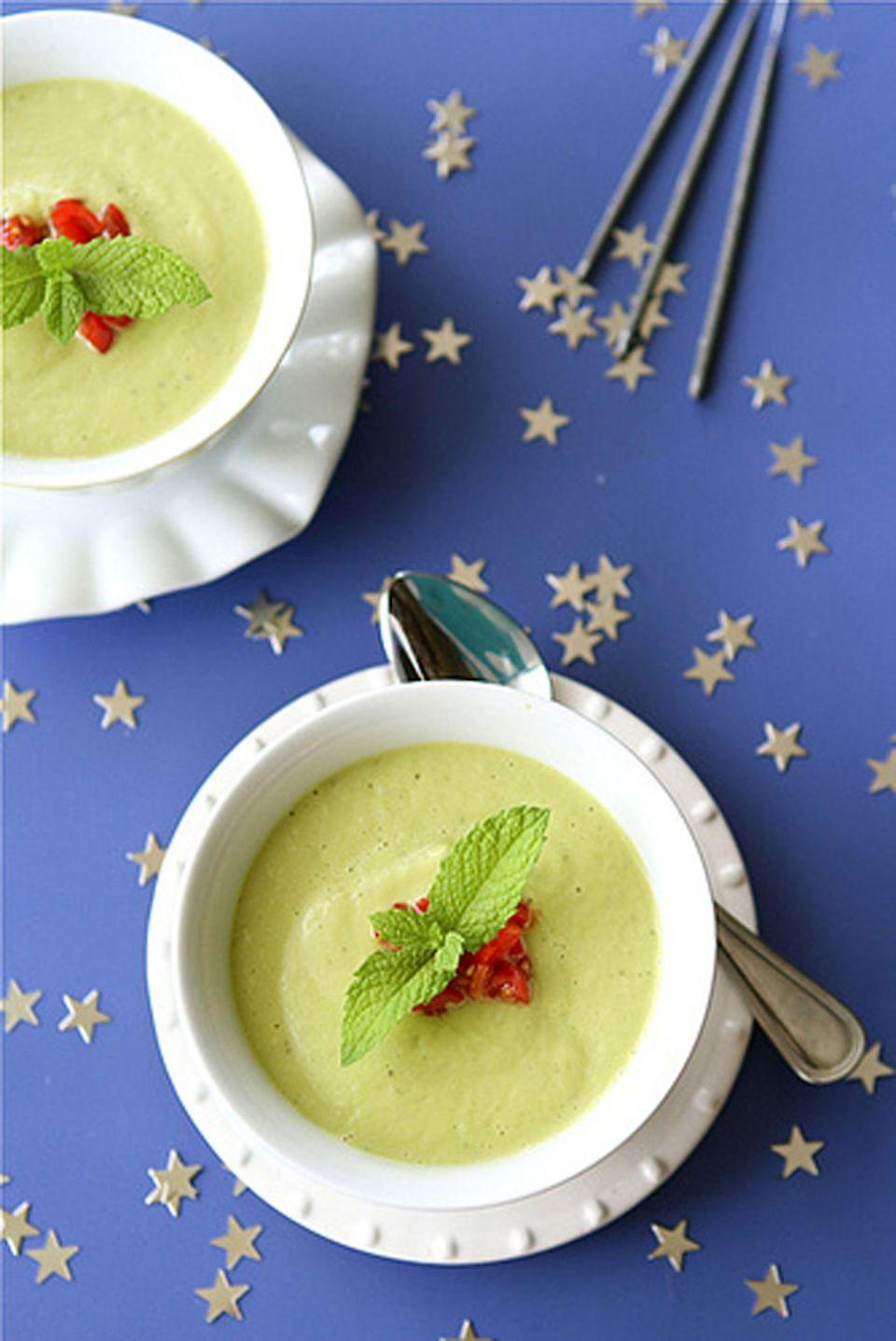 """<p>This blogger writes that avocados make this soup """"rich and satisfying"""" and recommends serving it as an appetizer.</p><p><strong>Get the recipe at <a href=""""https://www.cookincanuck.com/chilled-california-avocado-soup-with-coconut-milk-recipe/"""" rel=""""nofollow noopener"""" target=""""_blank"""" data-ylk=""""slk:Cookin Canuck"""" class=""""link rapid-noclick-resp"""">Cookin Canuck</a>.</strong></p>"""