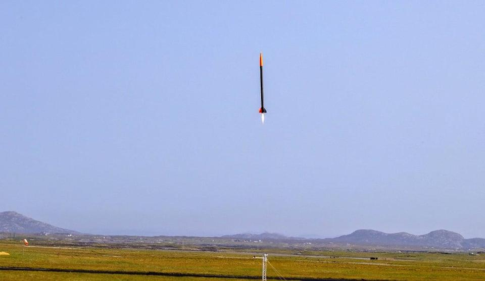 The rocket was launched at Benbecula Airport (Jeff Holmes/PA)