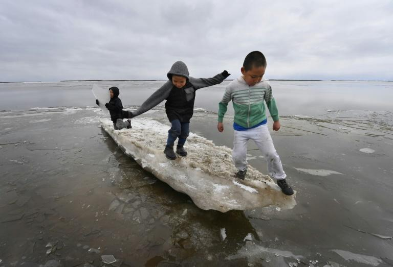 """""""We depend on the sea ice in the same way that the marine mammals depend on it"""", said Dalee Sambo Dorough from the Inuit Circumpolar Council in Canada (AFP Photo/Mark RALSTON)"""