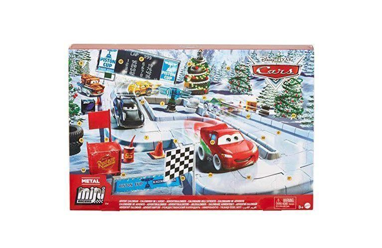"""<p><strong>Disney Cars Toys</strong></p><p>amazon.com</p><p><strong>$19.99</strong></p><p><a href=""""https://www.amazon.com/dp/B07YTC5XF7?tag=syn-yahoo-20&ascsubtag=%5Bartid%7C10055.g.4911%5Bsrc%7Cyahoo-us"""" rel=""""nofollow noopener"""" target=""""_blank"""" data-ylk=""""slk:Shop Now"""" class=""""link rapid-noclick-resp"""">Shop Now</a></p><p>With this Pixar Cars advent calendar, each day they'll be closer to completing their own racetrack with 5 vehicles based on fan-favorite characters.</p>"""