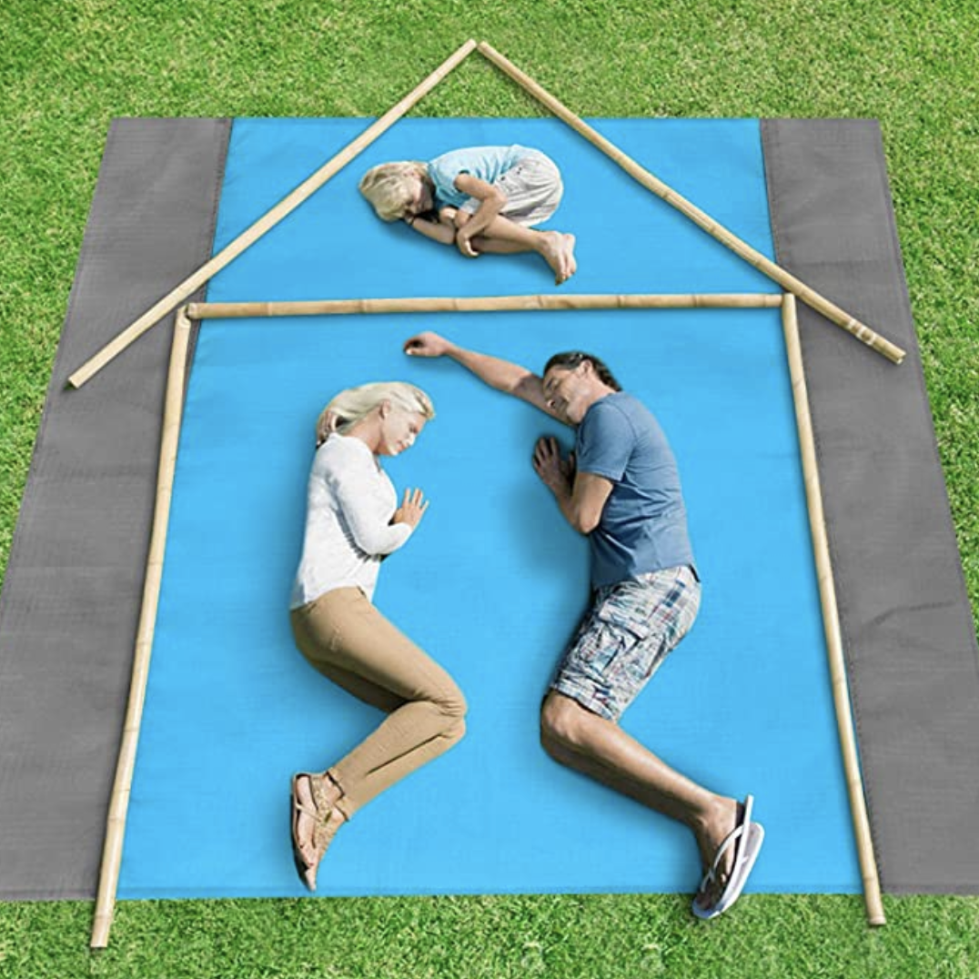 At nearly eight feet long and seven and a half feet wide, there's plenty of space to stretch out and ignore your family. (Photo: Amazon)