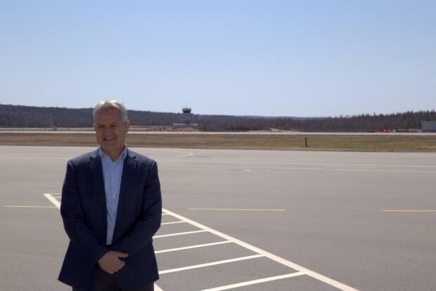 Saint John Airport acting CEO Greg Hierlihy says airline staff are onsite at the airport, training and preparing for flight resumption in two weeks. (Credit: Brian Comeau - image credit)
