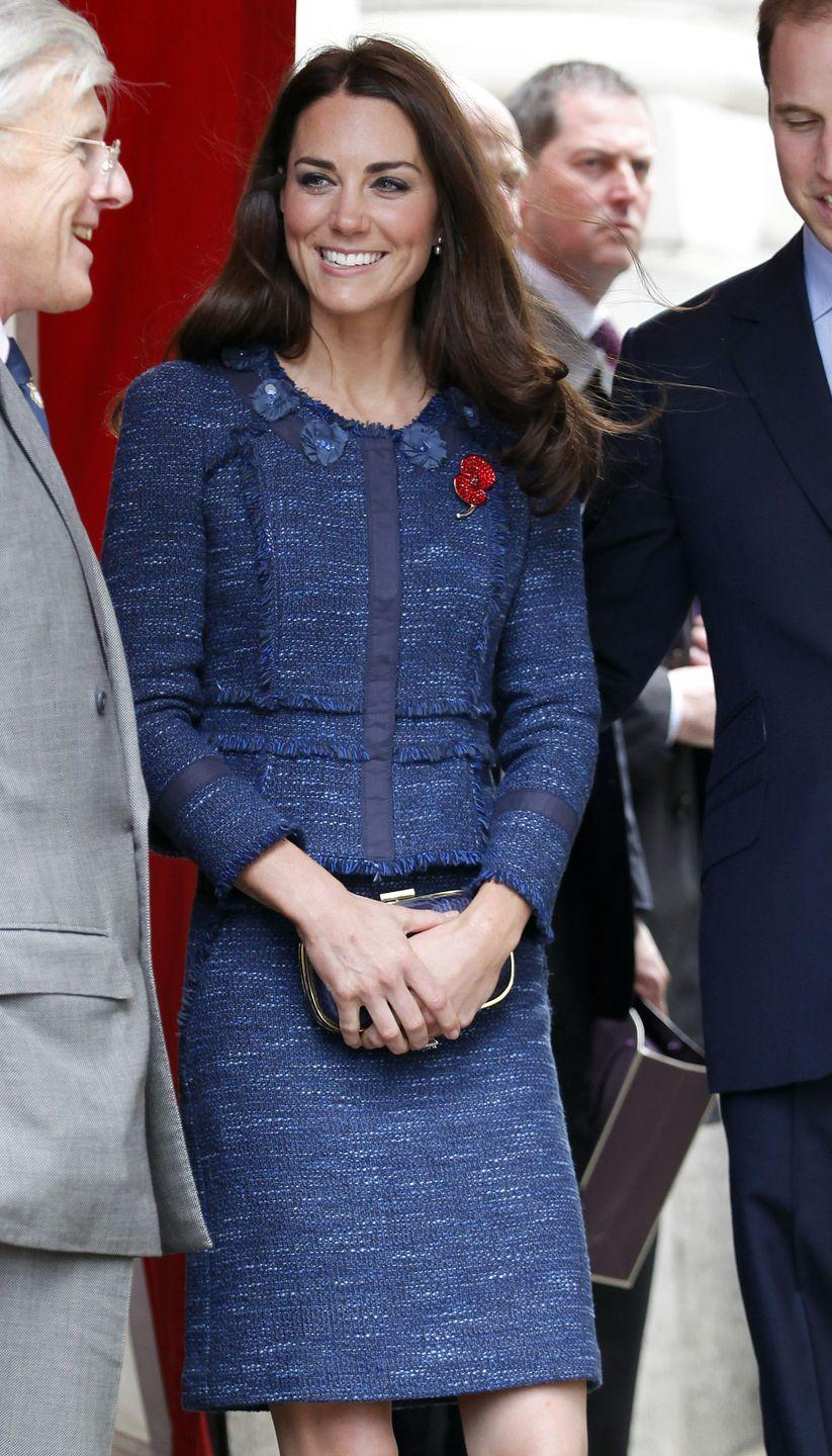 <p>Kate loves this Rebecca Taylor tweed skirt suit, as you'll soon see. She first wore the suit while attending the Scott-Amundsen Centenary Race in London. </p>